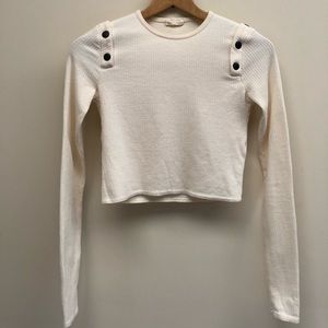 Zara Pullover Sweater w Snap Button Shoulder Small
